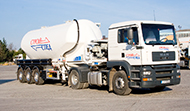 Транспорт на насипни товари с пневмотранспорт