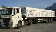 Транспорт на насипни товари със самосвални полуремаркета