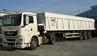 Transport of bulk cargo with semi-trailers